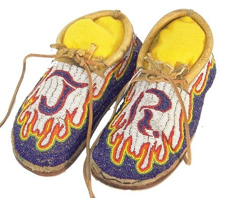801: Fully Beaded Moccasins