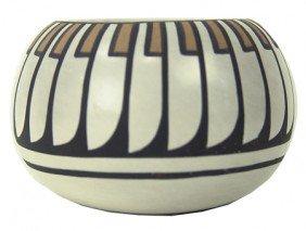 San Idefonso Pottery Bowl- Blue Corn