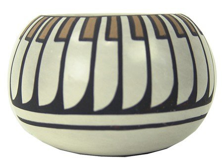 San Idefonso Pottery Bowl- Blue Corn
