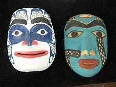 2 Northwest Coast Miniature Masks