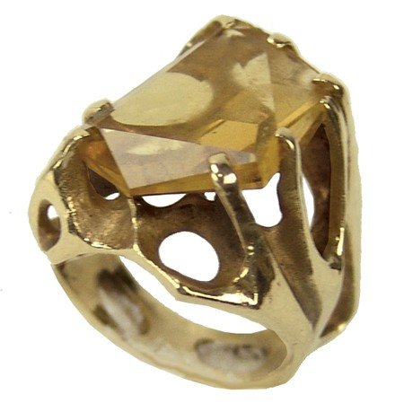 Gold and Citrine Ring