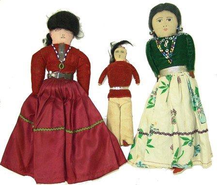 3 Navajo Dolls