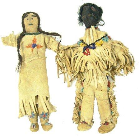 2 Buckskin Dolls
