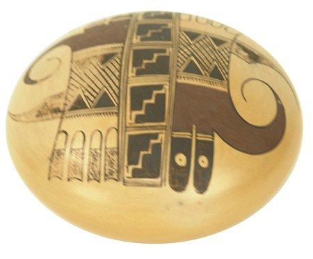 Hopi Seed Pot - White Swan (Dolly Joe Navasie)