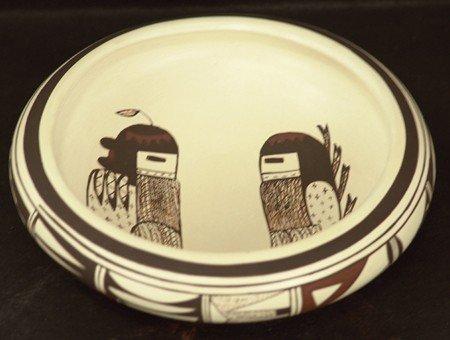 Hopi Pottery Bowl - Frog Woman (Joy Navasie)