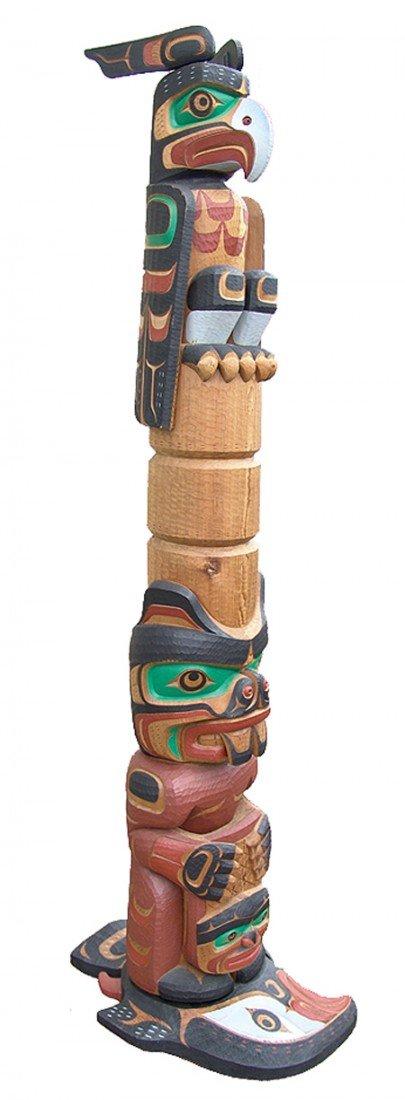 Kwakiutl Totem Pole - Tom Hunt