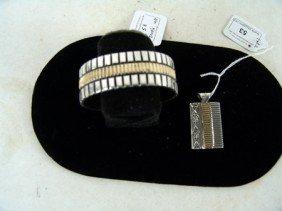 Navajo Pendant & Bracelet