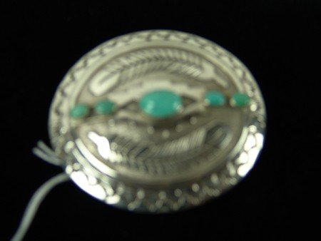 Turquoise & Silver Buckle