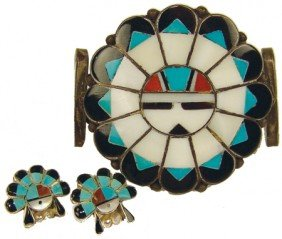 Zuni Inlay Bracelet Set