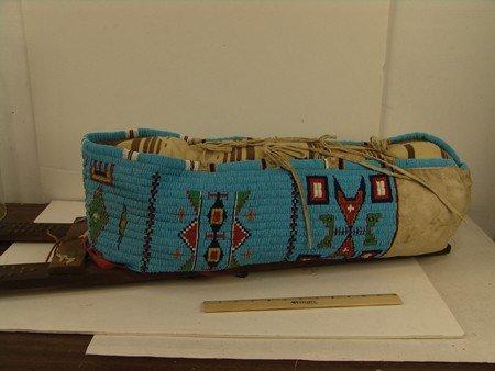 Cheyenne Beaded Cradleboard - 5