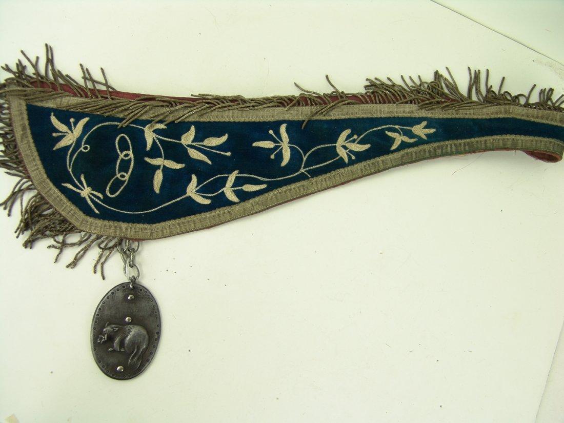20: Fraternal Medallion Sash