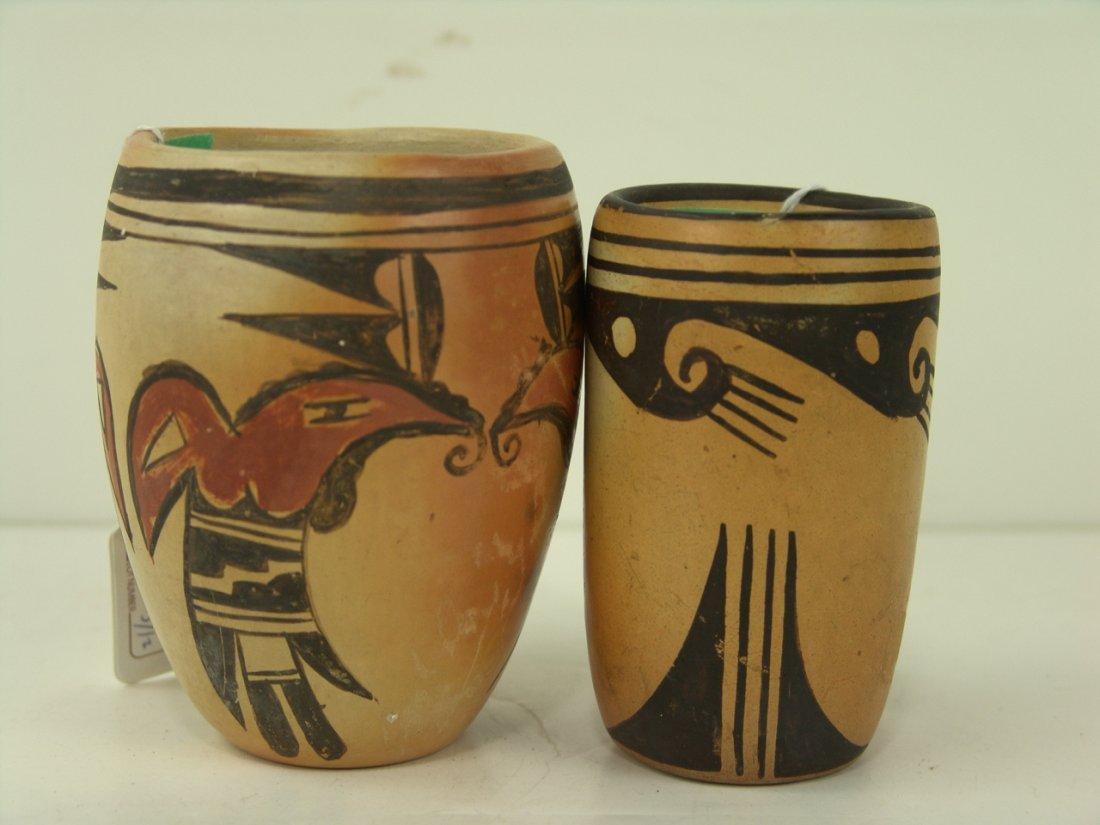 22: 2 Hopi Vases