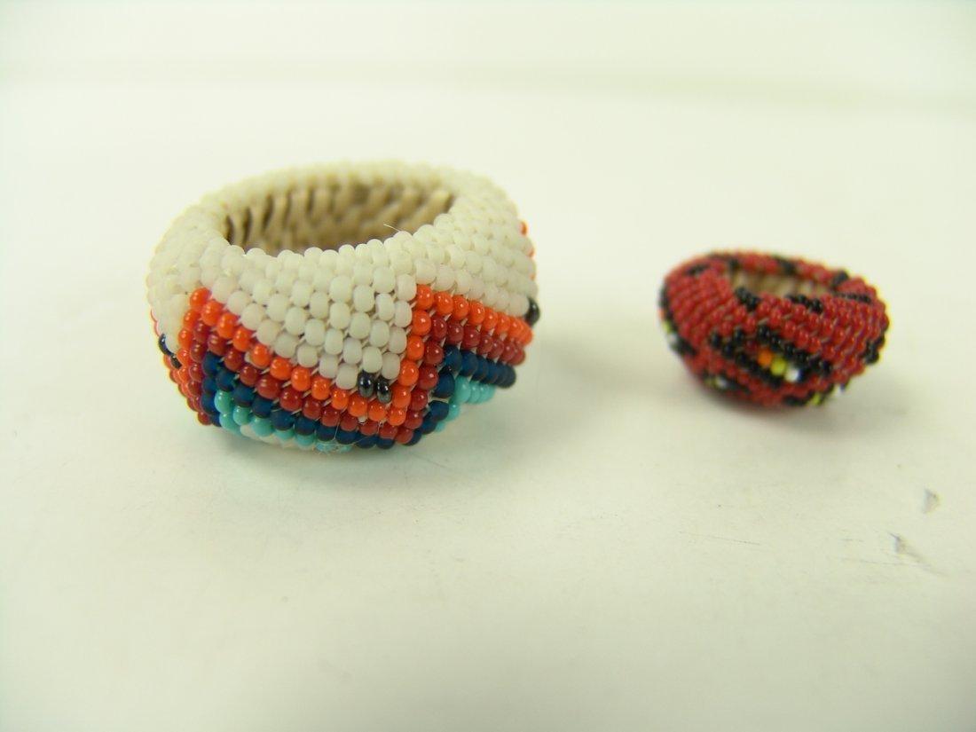 88: 2 Miniature Beaded Baskets - 2