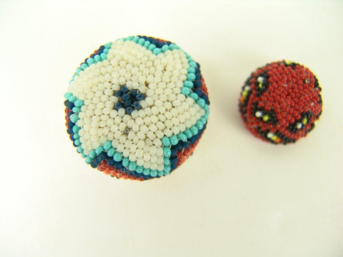 88: 2 Miniature Beaded Baskets - 5