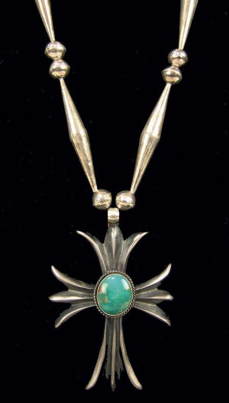 111: Navajo Cross Necklace - HB