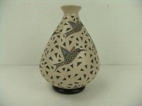Mata Ortiz Hummingbird Vase - Angela Corona