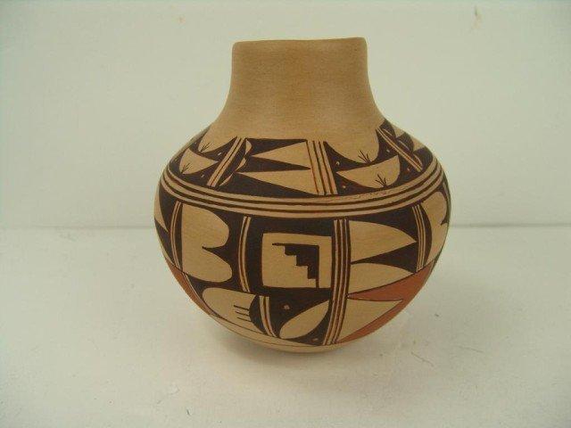 123: Hopi Pottery Jar- Colleen Poleahla