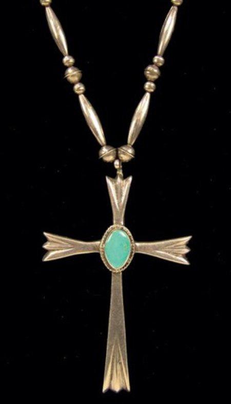 462: Navajo Cross Necklace