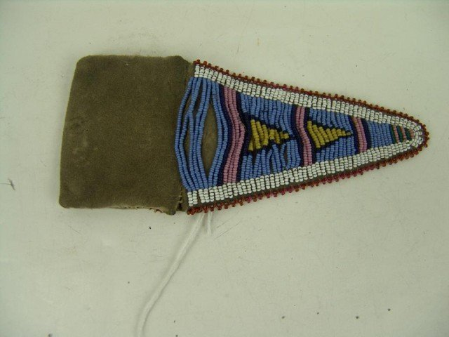 467: Crow Beaded Pouch