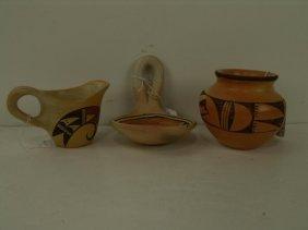 3 Hopi Pottery Pieces