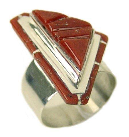 4: Zuni Inlay Ring - L.C.