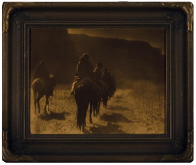 451: Edward Curtis Orotone Photograph