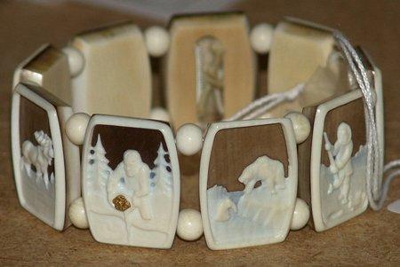 Eskimo ivory bracelet