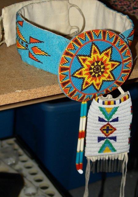 Beadwork Belt & Bag