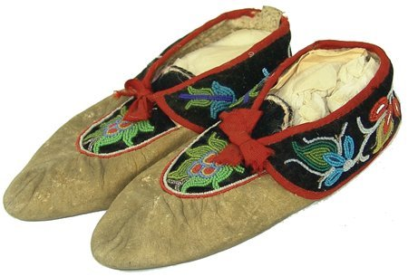 Ojibway Beaded Moccasins