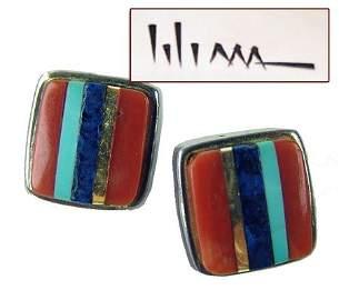 Hopi Earrings - Charles Loloma