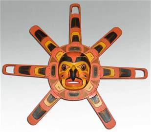 Kwakiutl Sun Face Mask - Vern Etzerza