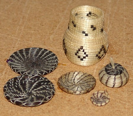 Miniature Horsehair Baskets