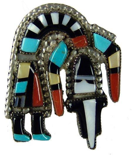 Zuni Inlay Ring - Herbert Cellicion