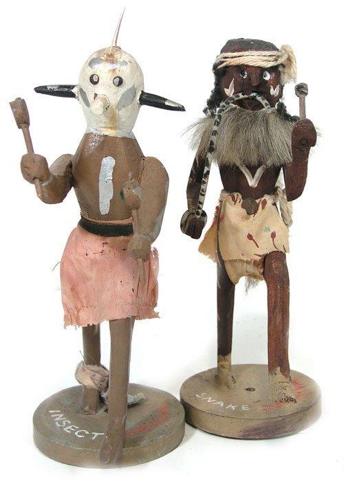 18: Carved Kachina Dolls