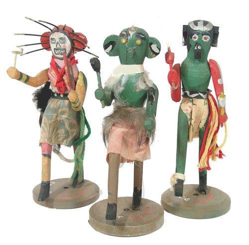 19: Carved Kachina Dolls