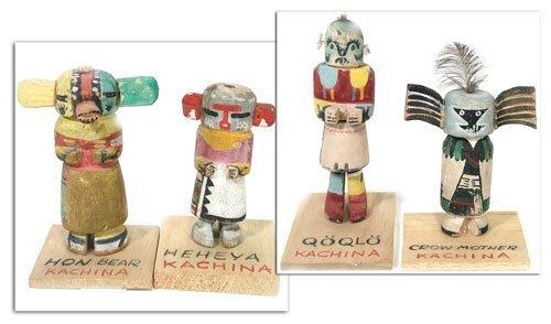 20: Carved Kachina Dolls