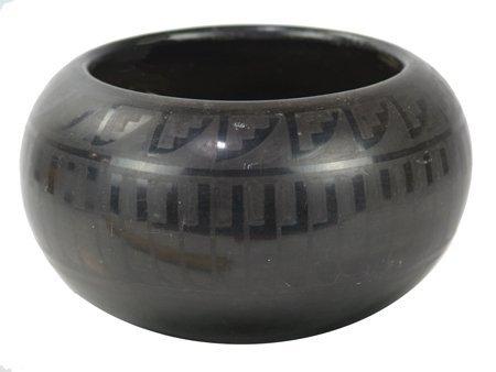 San Ildefonso Pottery Bowl - Blue Corn