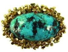 Gold & Turquoise Buckle