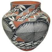 Huge Acoma Pottery Jar - Ruby Shroulote