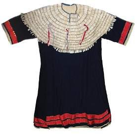 Sioux Dentalium & Tradecloth Dress