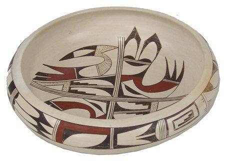 Hopi Frogwoman Pottery Bowl - Joy Navasie