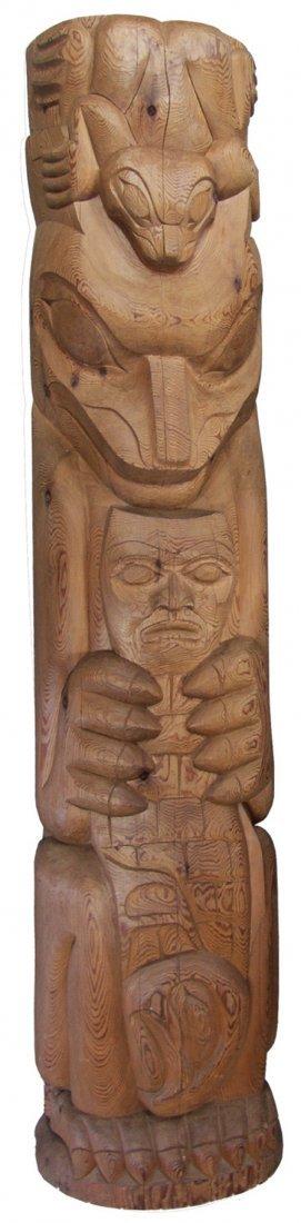 Coast Salish Totem Pole - Aubrey La Fortune