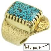 Hopi Gold Ring - Charles Loloma
