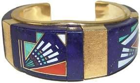 Navajo Gold Bracelet - Julian Arviso (1959-2011)
