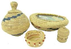 Lot of 4 Basket Items