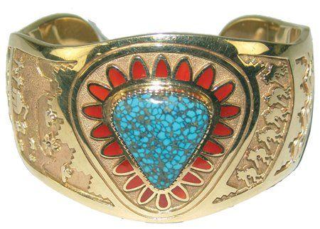 Navajo Gold Bracelet - Vernon Haskie