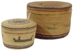 6: Two Nootka/Makah Baskets