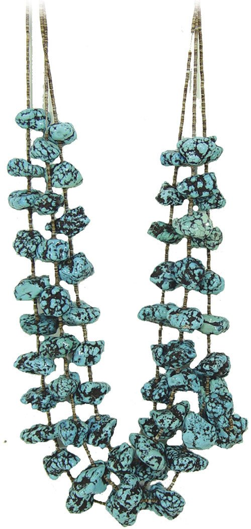 19: Turquoise Nugget Necklace
