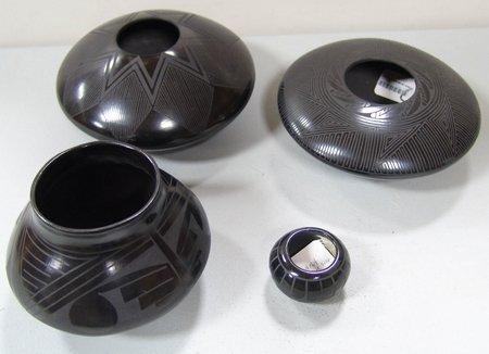 Mata Ortiz/Santa Clara Pottery Bowls