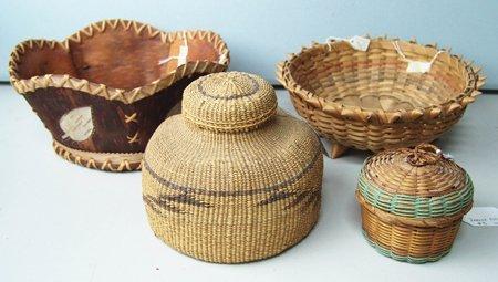 4 Indian Baskets